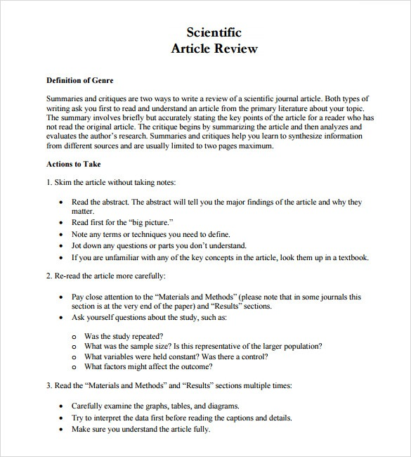 28 Images Of Scientific Article Summary Template