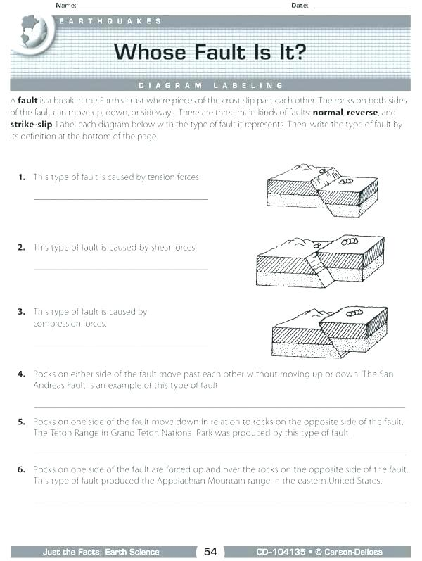 Science Worksheets For High School Earth Science Printable