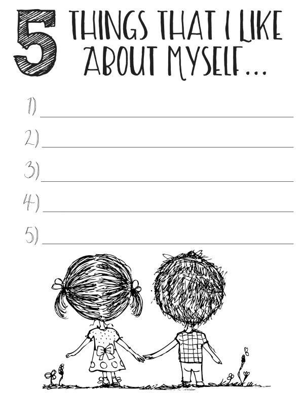 30 Self Esteem Worksheets To Print