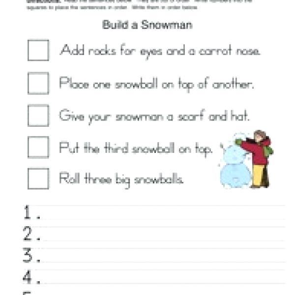 Sequence Of Events Worksheets 2nd Grade First Then Last Finally
