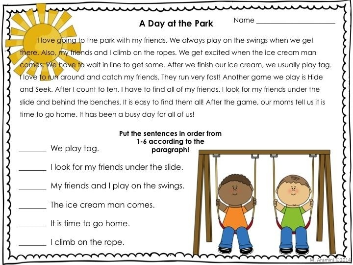 Sequencing Worksheets 2nd Grade