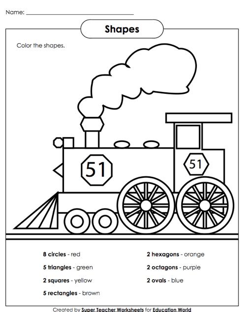Super Teacher Shapes Worksheet