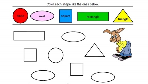 Shapes & Colors Worksheets – Home Education Resources