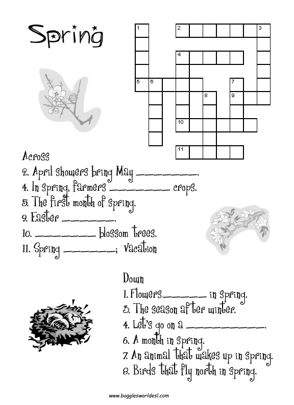 Spring Worksheets And Teaching Activities
