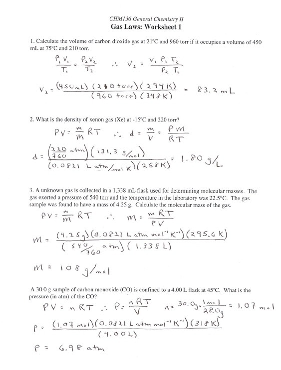 Stoichiometry Calculations Worksheet