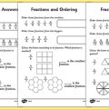 Ordering And Comparing Fractions Worksheets