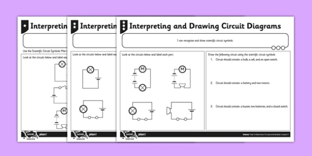 Interpreting And Drawing Circuit Symbols Worksheet   Worksheet