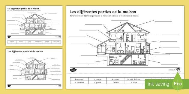Parts Of A House Worksheet   Worksheet French