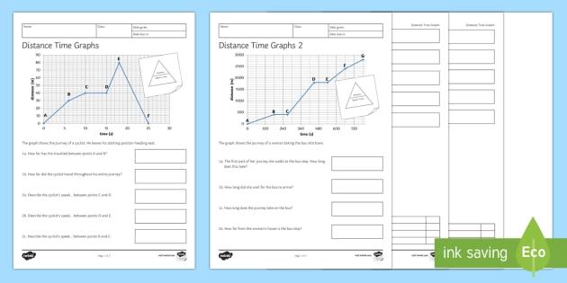 Distance Time Graphs Worksheet   Worksheets