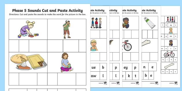 Phase 5 Sounds Cut And Paste Worksheet   Worksheets