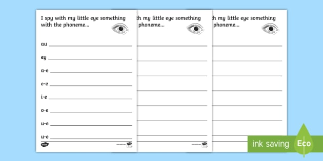 Phase 5 Phoneme Hunt Worksheet   Activity Sheet