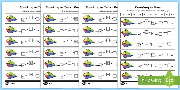 Counting In 10s Worksheet   Worksheets
