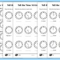 O Clock Worksheets