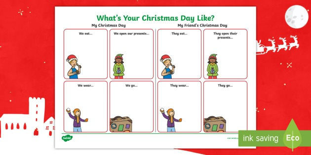 What's Your Christmas Day Like  Worksheet   Worksheet