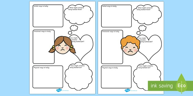 Bullying Worksheets