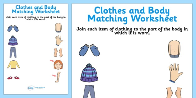 Clothes And Body Matching Sheet
