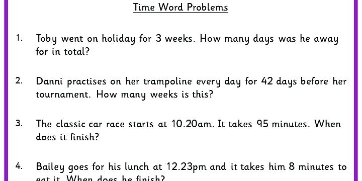 Telling Time Word Problems Worksheets Grade Math Word Problems