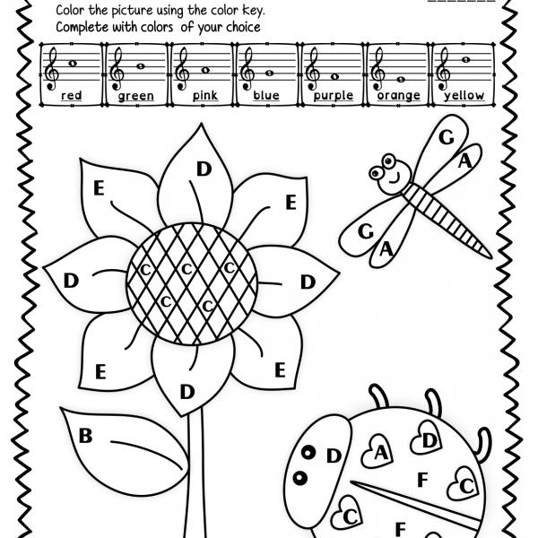 Treble Clef Note Naming Worksheets For Spring   Anastasiya