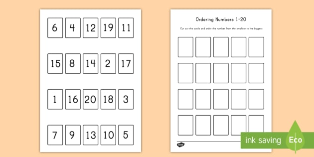 Ordering Numbers Game 1