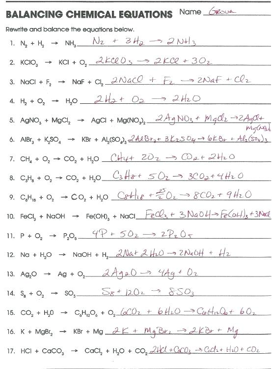 Word Equations Chemistry Worksheet Answers – Webbuilderdirectory Info