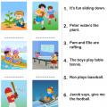 Actions Worksheets Kindergarten