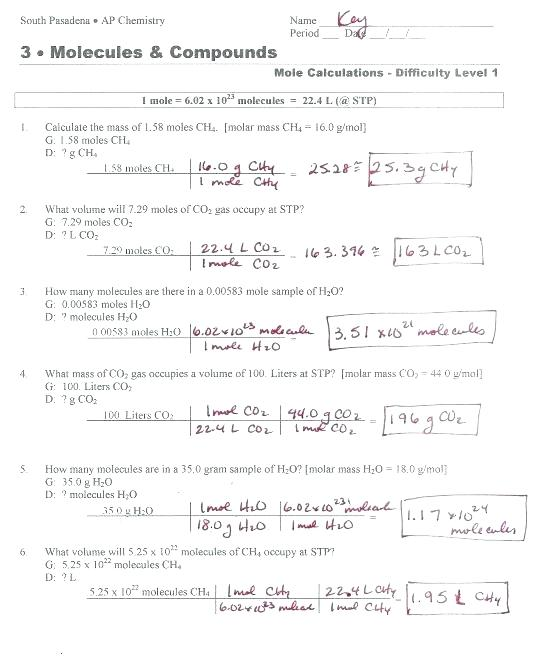Worksheet Mole Conversions Mole Conversion Worksheet Mole To Grams