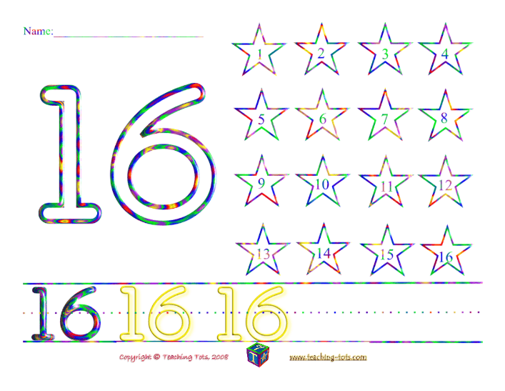 A Different Gorgeous Number Worksheet Each Day Of The Month