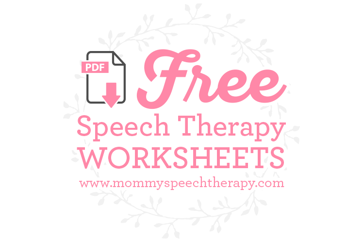 Speech Therapy Worksheets And Forms