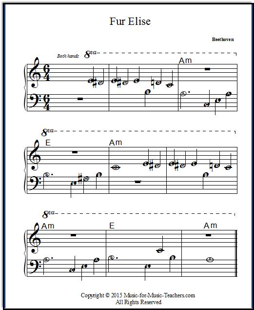 Fur Elise Free & Easy Printable Sheet Music For Beginner Piano