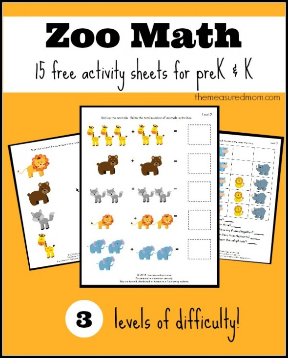Free Zoo Worksheets For Preschool And Kindergarten