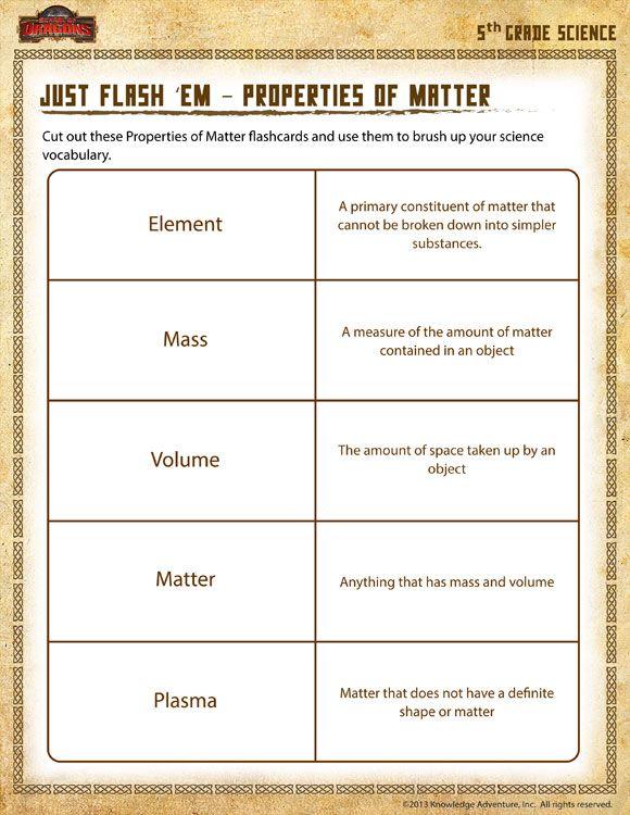 Just Flash 'em – Properties Of Matter View