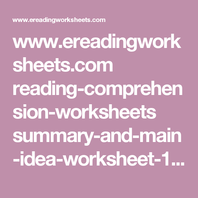 Www Ereadingworksheets Com Reading