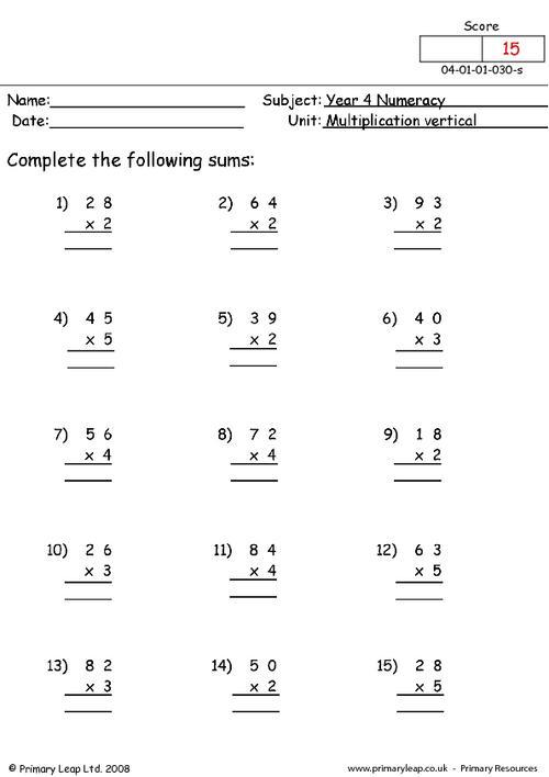 Vertical Multiplication