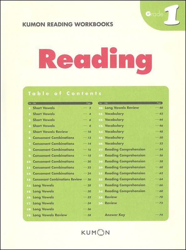 Kumon Reading Workbook