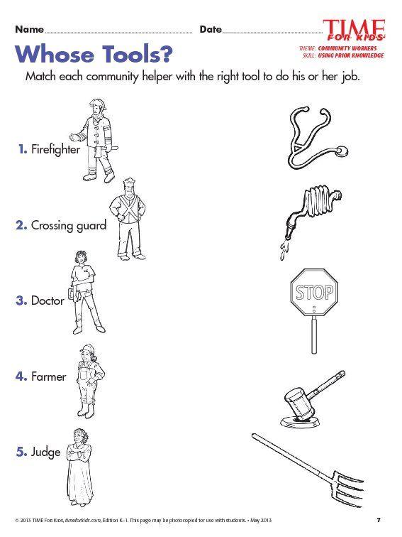Grade 1 Community Helpers Worksheets