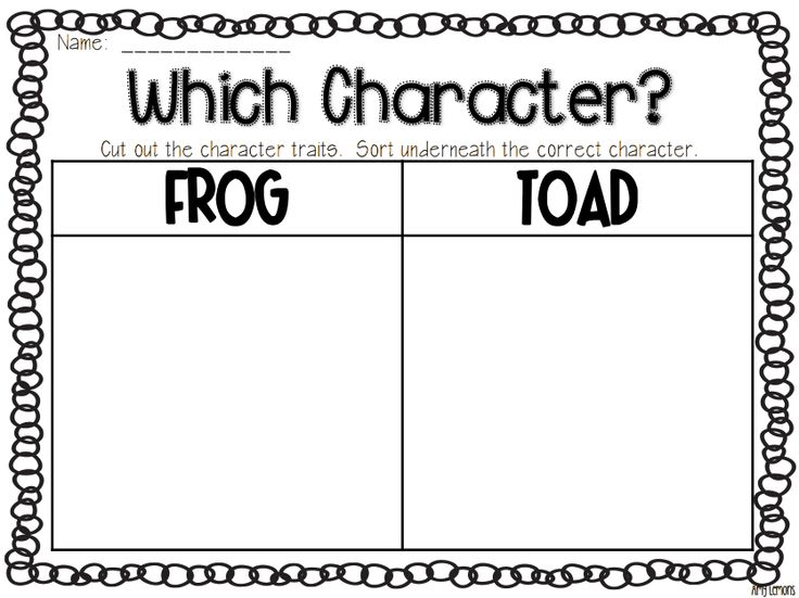 Frog And Toad Together Worksheets