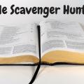 Bible Scavenger Hunt Worksheets