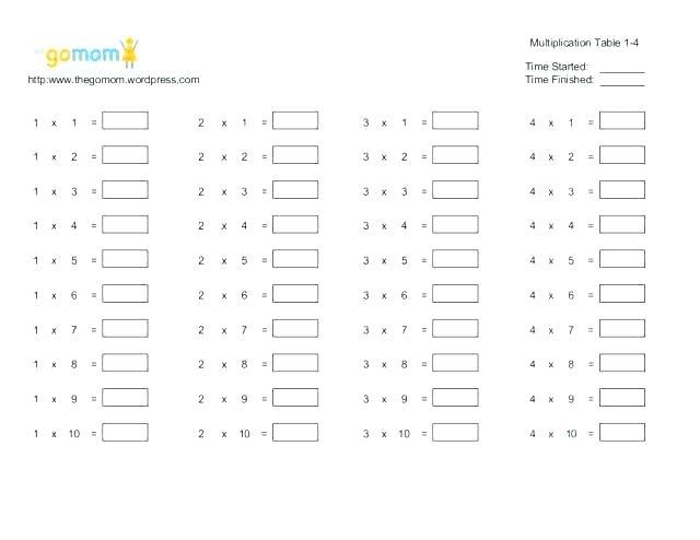 2 By 2 Multiplication Worksheet Multiplication Table Worksheets