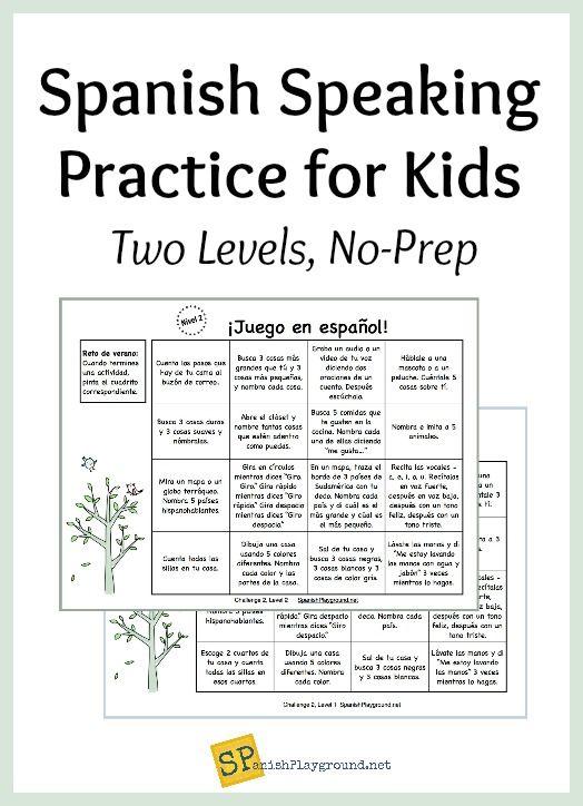 Spanish Speaking Practice For Kids