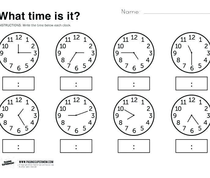 3rd Grade Clock Worksheets