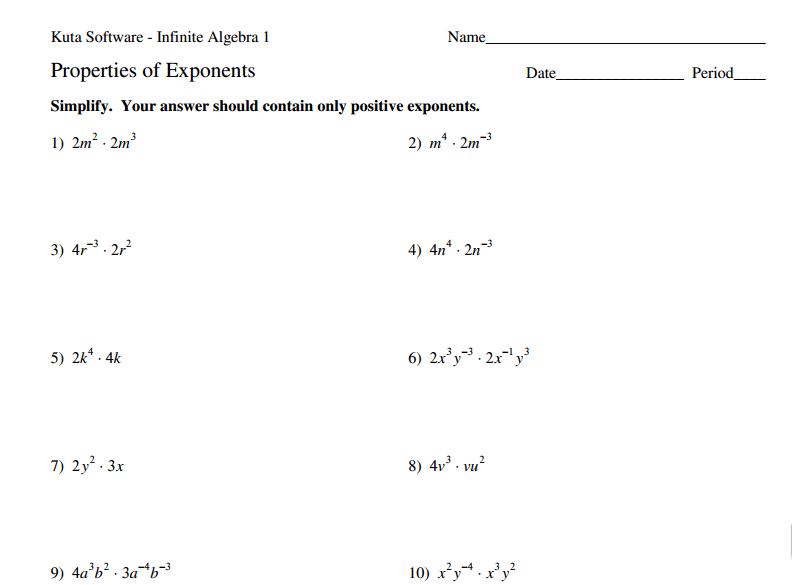 Exponents (8 Ee 1
