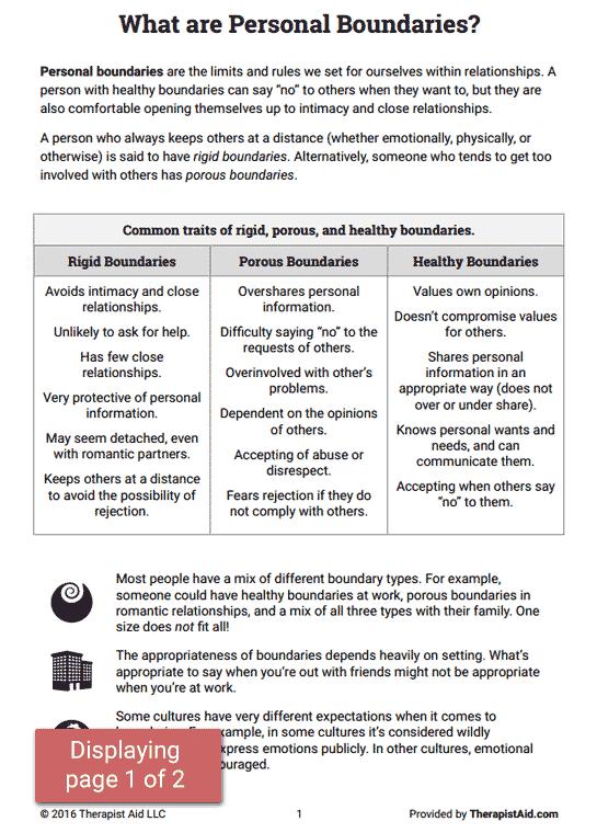 Boundaries Info Sheet (worksheet