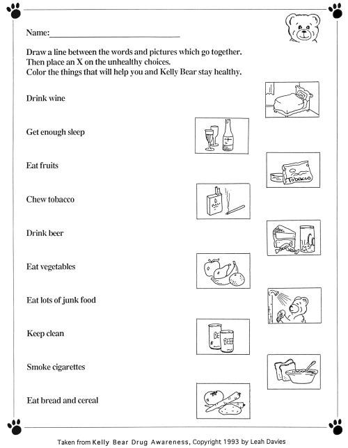 Printables  Healthy Eating For Kids Worksheets  Lemonlilyfestival
