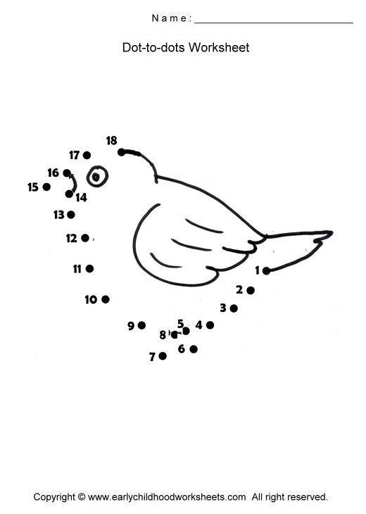Preschool Bird Math Worksheets