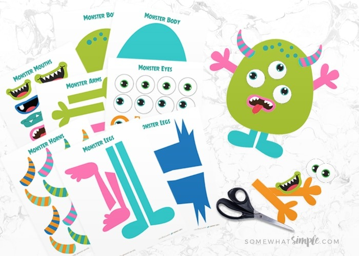 Build A Monster Free Printable Craft Kit