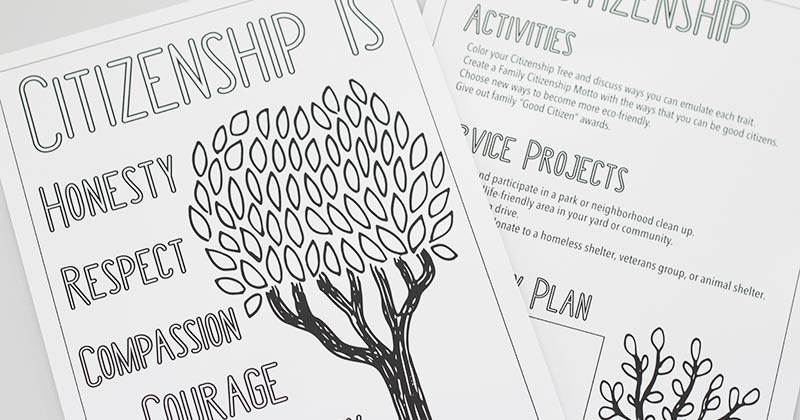 Free Printable Citizenship Activities For Kids & Families
