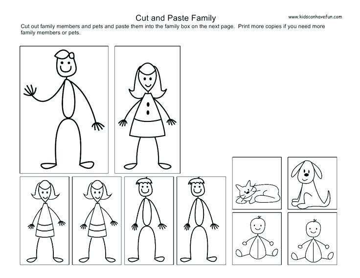 Cut And Paste Kids Family Worksheets Primary Cut And Paste Kids