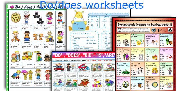 Do Does Worksheets