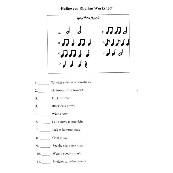 Elementary Music Worksheets Printable Reading Comprehension Inc