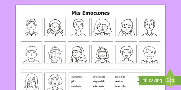 My Emotions Worksheet   Worksheet